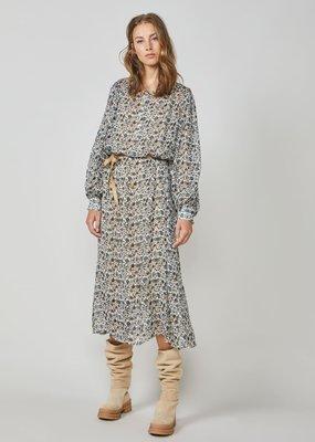 Summum Dress flowerprint lichtblauw/grijs