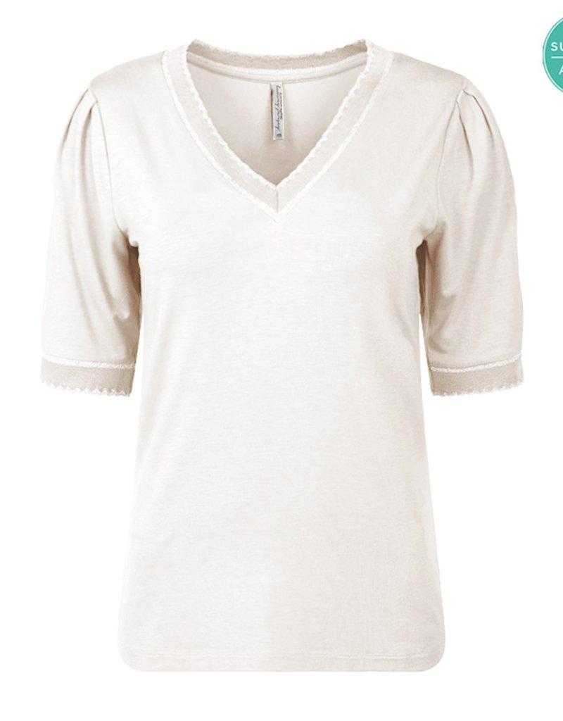 Summum Top ecru V-neck 56443/2