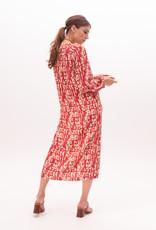 Nathalie Vleeschouwer Dress long Rode print 56356/8