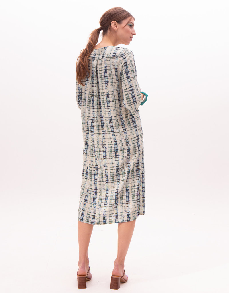Nathalie Vleeschouwer Lang kleed groene print 56358/12
