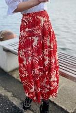 Lolly's Laundry Lange rok rode bloemenprint