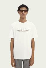 Scotch&Soda Tee wit 56857/1