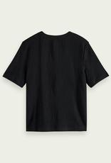 Maison Scotch Tee linnen black 56553/17
