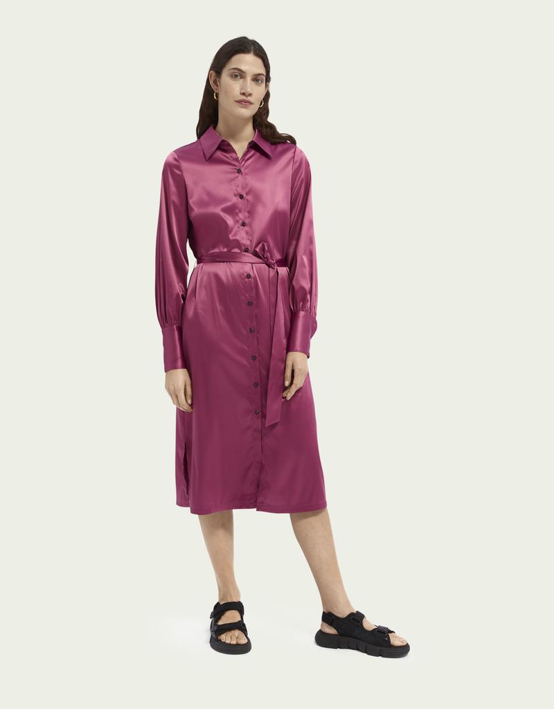 Maison Scotch Shirt dress orchid 56556/23