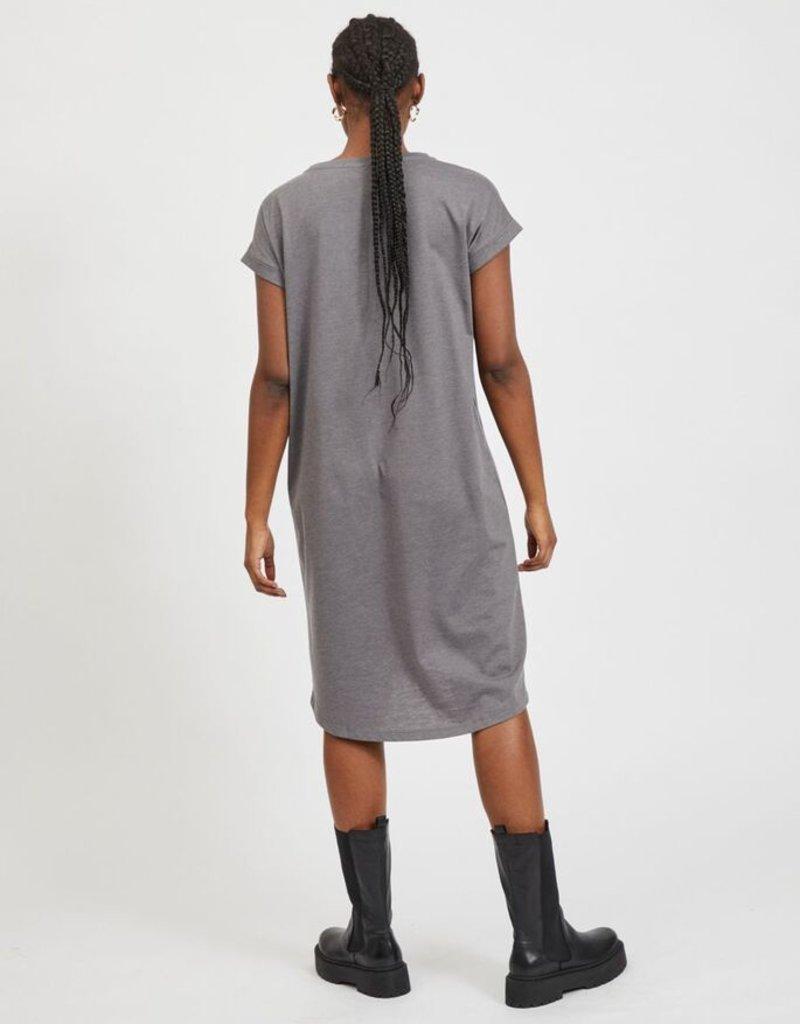 Vila Kleed T-shirt stof grijs 56466/16