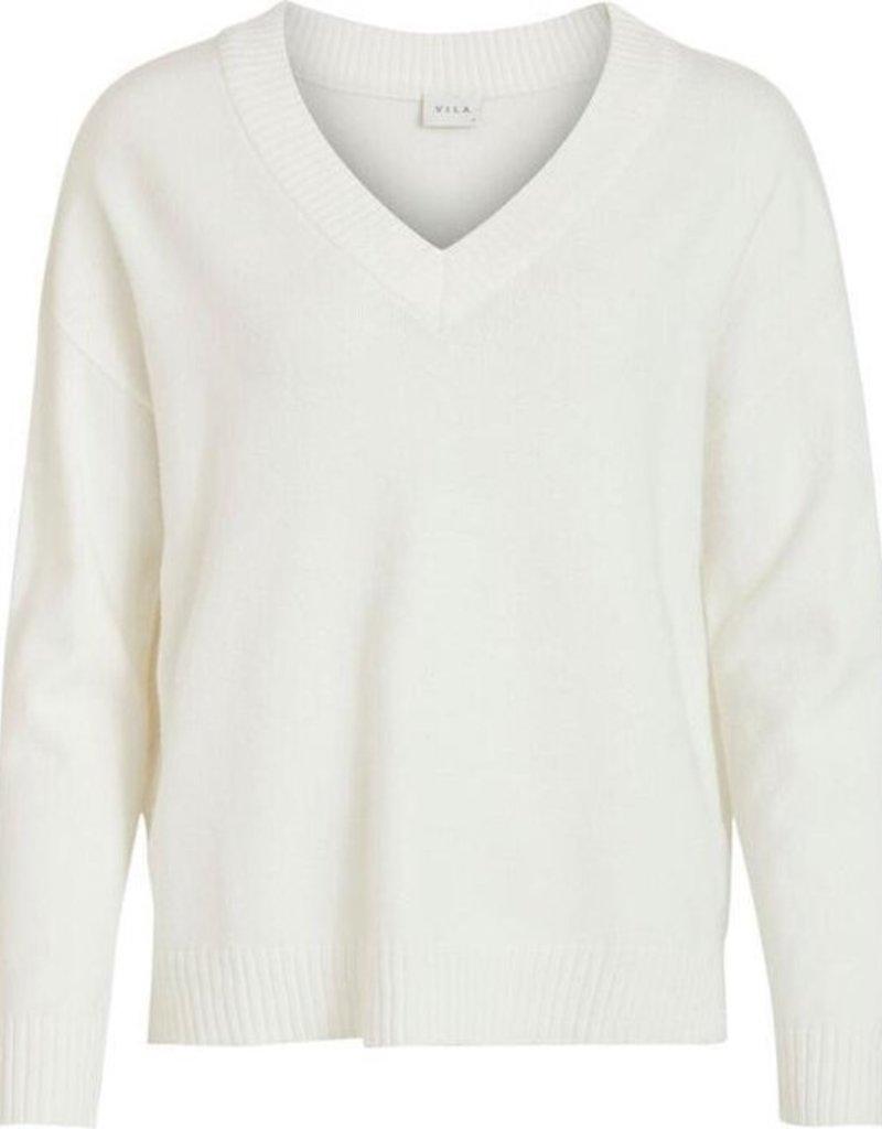 Vila Pull V-neck White 56486/1