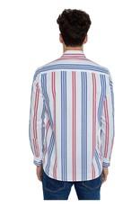 Pepe jeans Men Hemd strepen wit/Bauw/rood 56571/20