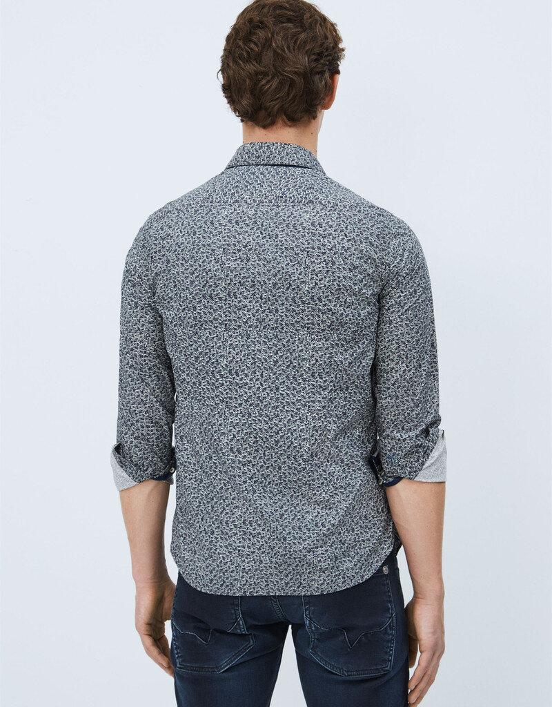 Pepe jeans Men Hemd grijze print 56572/20