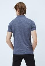Pepe jeans Men Polo grijs/blauw 56580/20