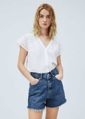 Pepe jeans Women Embroidered cotton Top