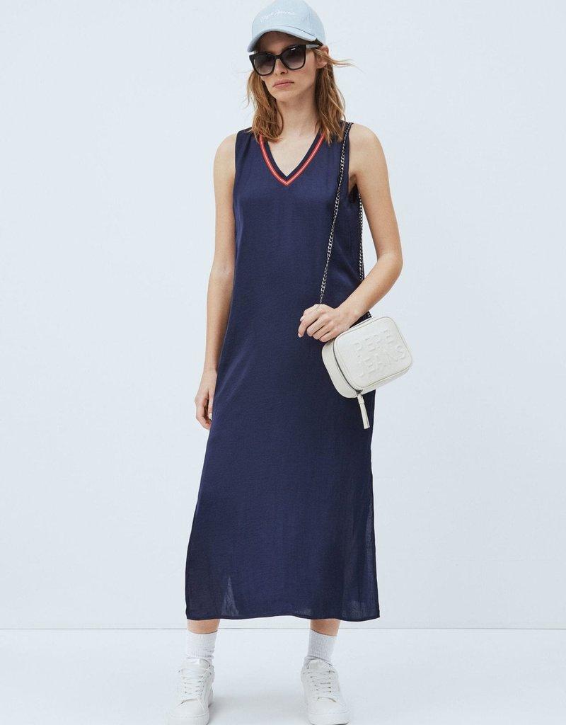 Pepe jeans Women Kleed satijn blauw 56713/20