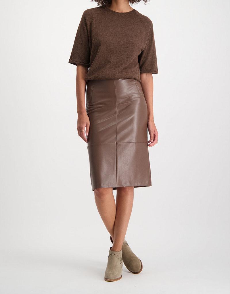 Alchemist skirt leatherlook brown 56289/5
