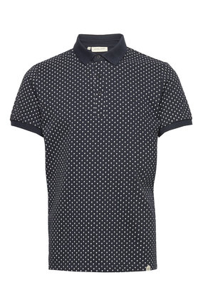 Casual Friday Polo print navy