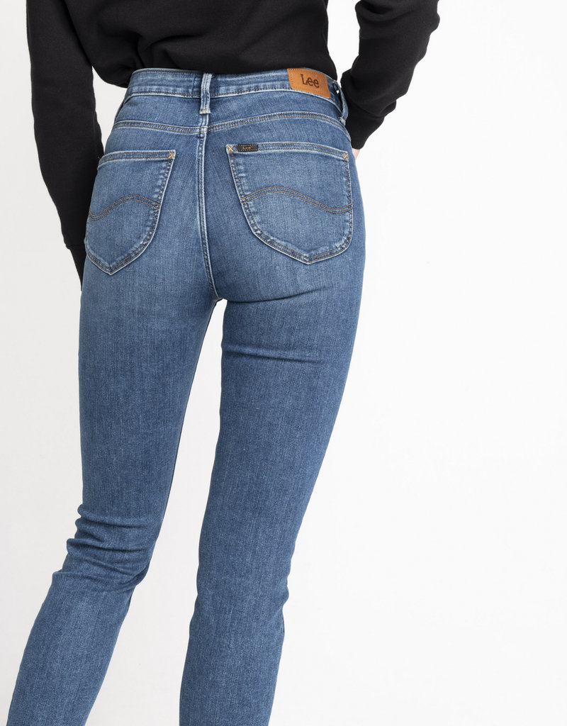Lee Jeans hoge taille, smalle pijpen 56618/18 & 54499