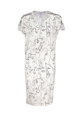 Dame Blanche Dress Black/white print