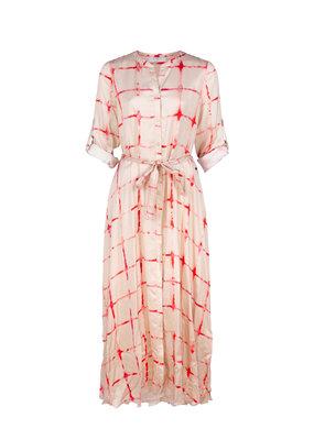 Dame Blanche Long Dress batik coral