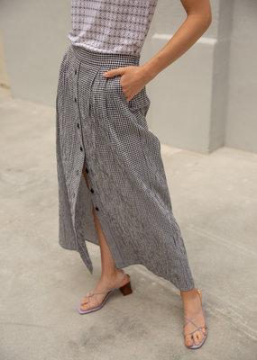 Sita Murt Vichy skirt zwart/ecru