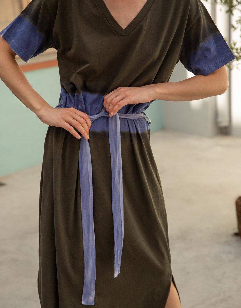 Sita Murt Tie dye dress kaki 56801/20