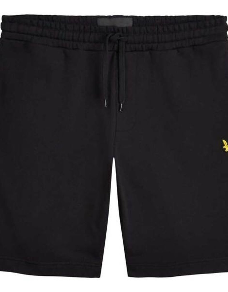 Lyle&Scott Short sweaterstof zwart 56719/17