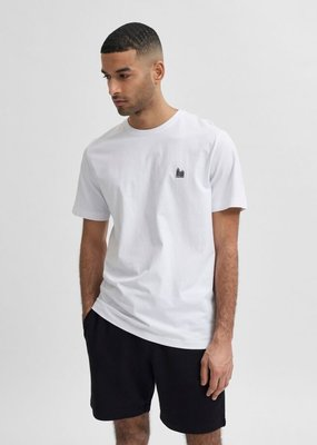 Selected Heren Tee O-neck Bright Bright White