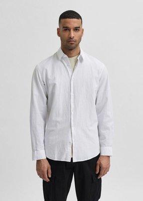 Selected Heren Linnen shirt White