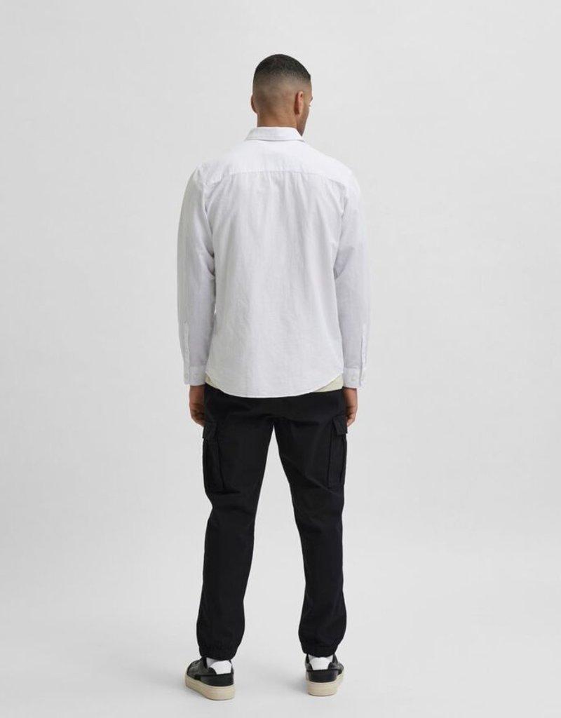 Selected Heren Linnen hemd Wit 56522/1