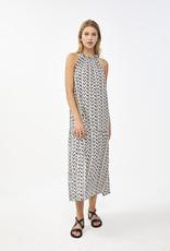 By Bar Long dress print black/ecru 56923/20