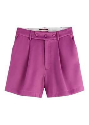 Maison Scotch Tailored shorts in shiny twill quality