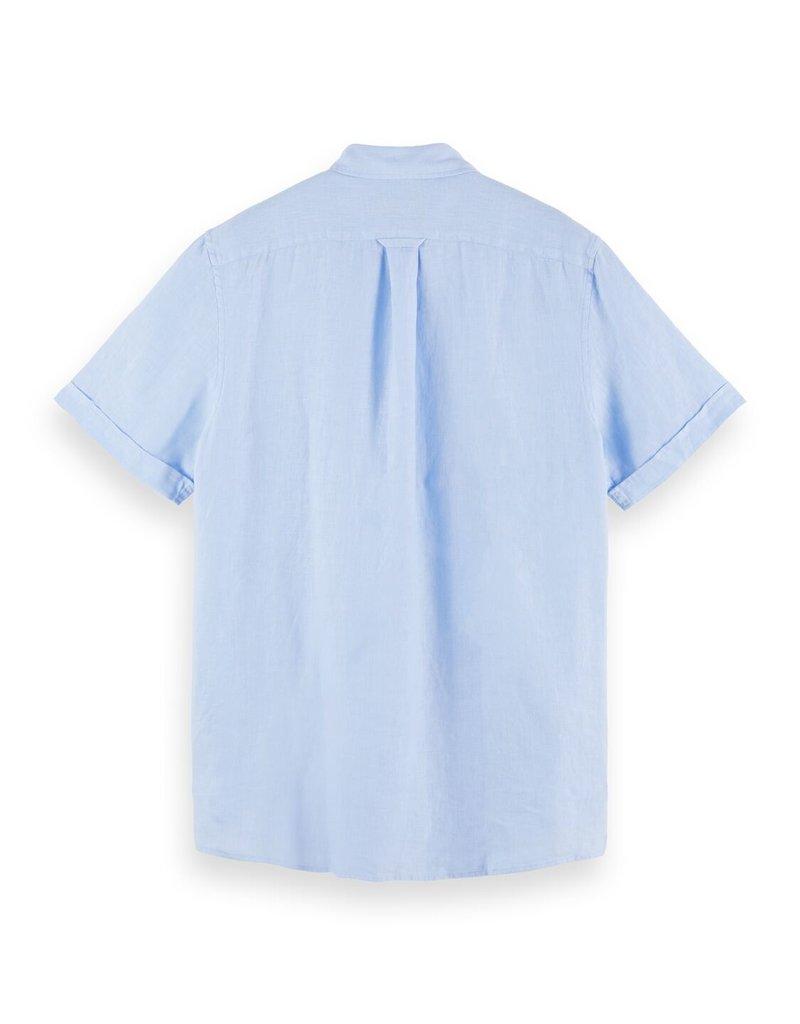 Scotch&Soda linnen hemd licht blauw 56949/13