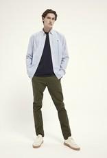 Scotch&Soda Poplin shirt lichtblauw 56851/20