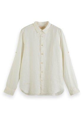 Scotch&Soda Regularfit garment dyed linen shirt