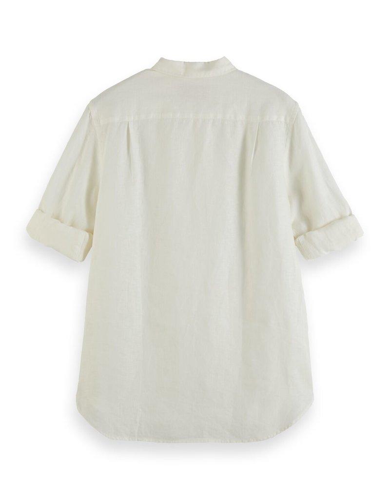Scotch&Soda regular fit linnen shirt denim white 56948/4