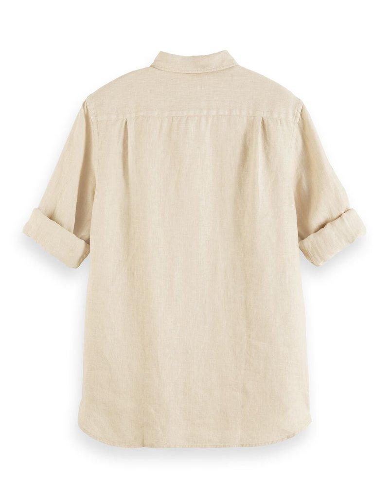 Scotch&Soda linnen hemd beige 56952/4