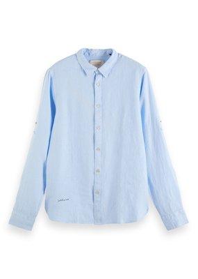 Scotch&Soda Regular fit garment dyed linen shirt