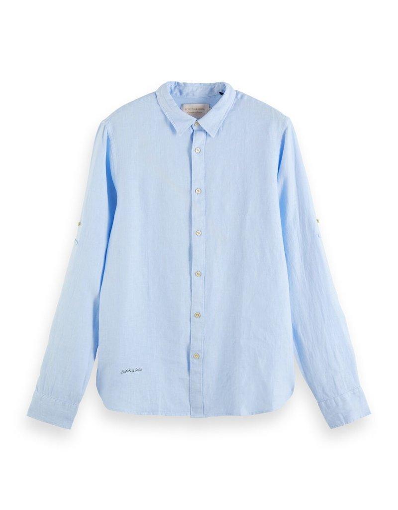 Scotch&Soda linnen hemd lichtblauw 56952/13