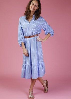 Amelie&Amelie Long dress stripes blue