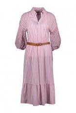 Amelie&Amelie lang kleed strepen met riem 56938/23