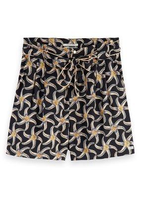 Maison Scotch Printed viscose shorts