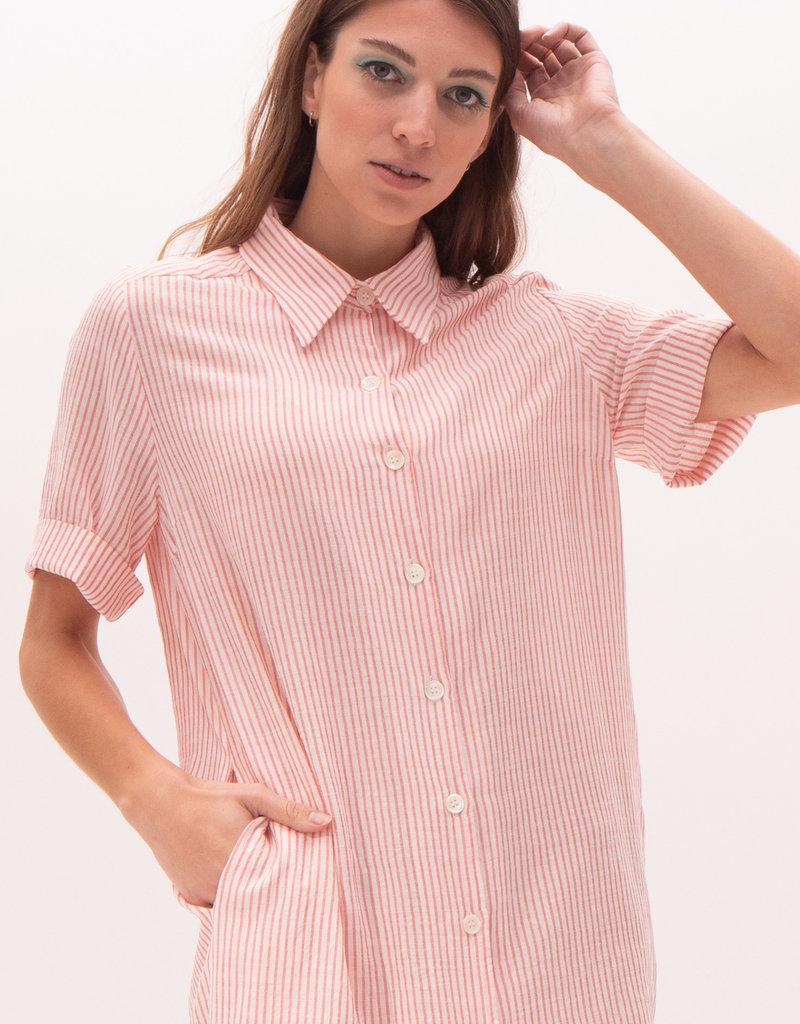 Nathalie Vleeschouwer Kleedje wit/roze strepen 56359/7