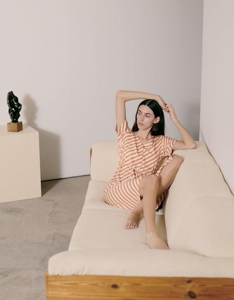 Ichi Dress stripes oranje 56762/6