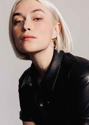 Laurence Delvallez Linen earrings