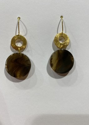 Laurence Delvallez earrings brown