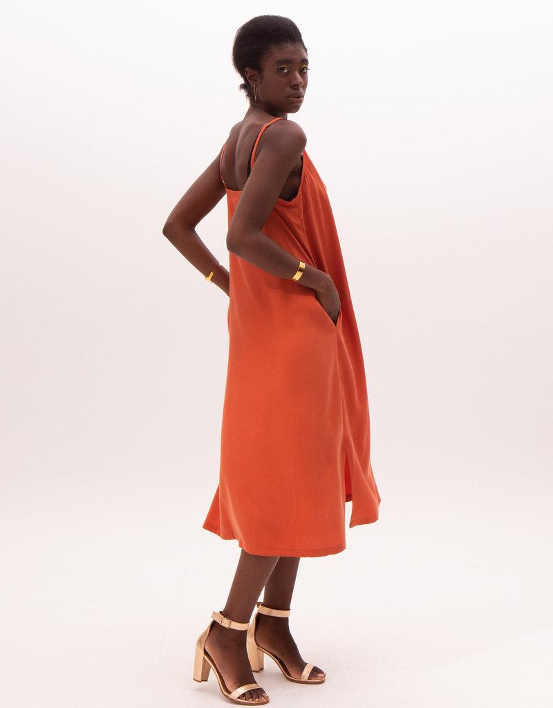 Nathalie Vleeschouwer Long dress orange