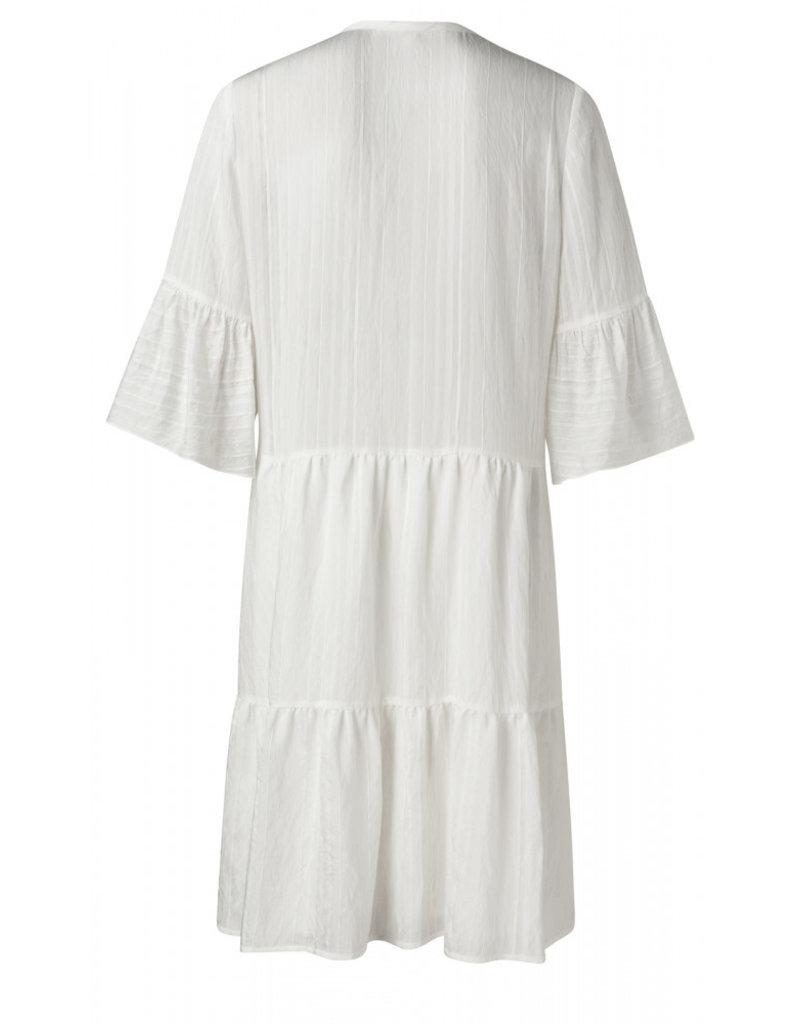 Yaya A line dress white 56202/1