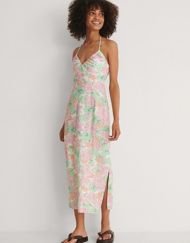 NA-KD Halterneck dress multicolor 56147/20