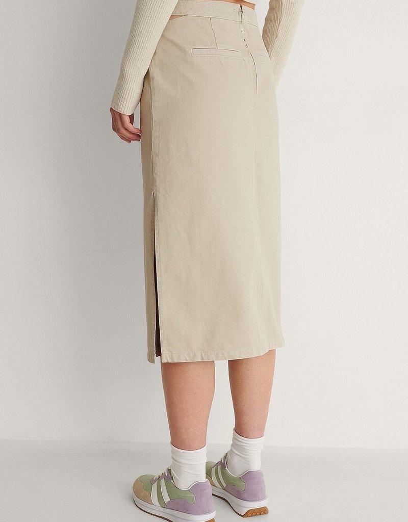 NA-KD Denim skirt light beige 56157/2