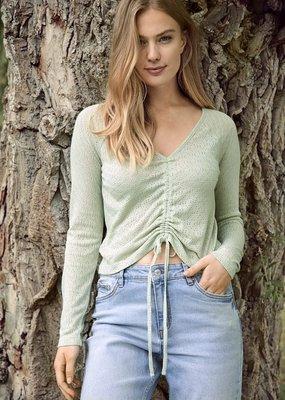 B-young Long sleeve shirt kaki