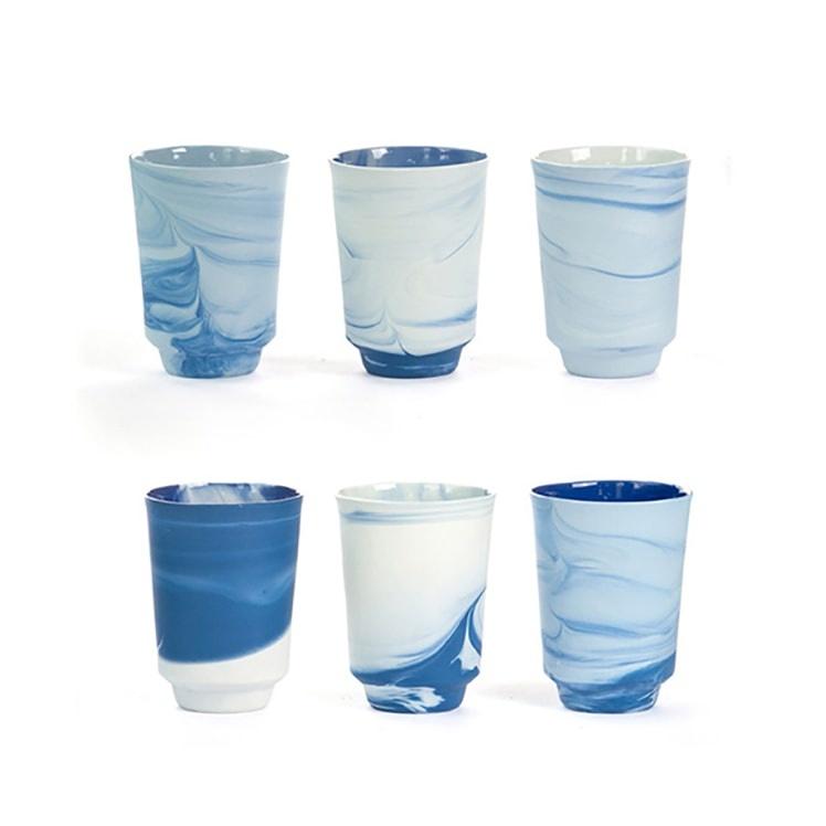 Vij5 Pigments and Porcelain (set van 6) Blauw - Alissa + Nienke x Vij5
