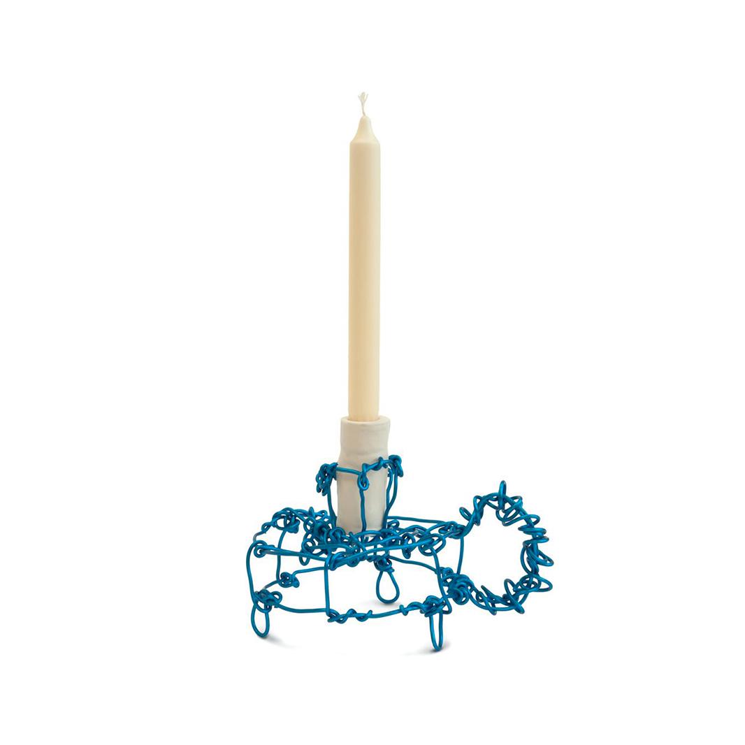 Kiki van Eijk Floating Frames Candle Holder alu/blauw - Kiki van Eijk