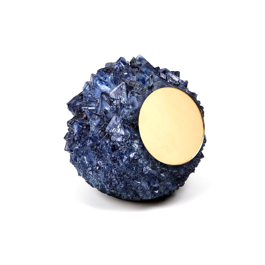 Isaac Monté Crystal spiegel blauw - Isaac Monté